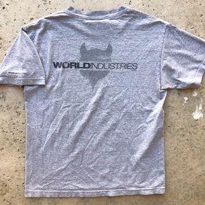 WORLD INDUSTRIES Rare Vintage Devil T-Shirt